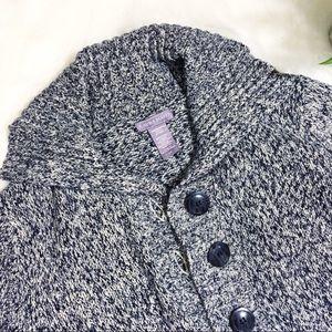 Laura Scott Sweaters - 💙SALE! Laura Scott   Blue Marbled Cardigan   L